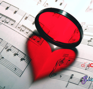 un cuore nello spartito musicale